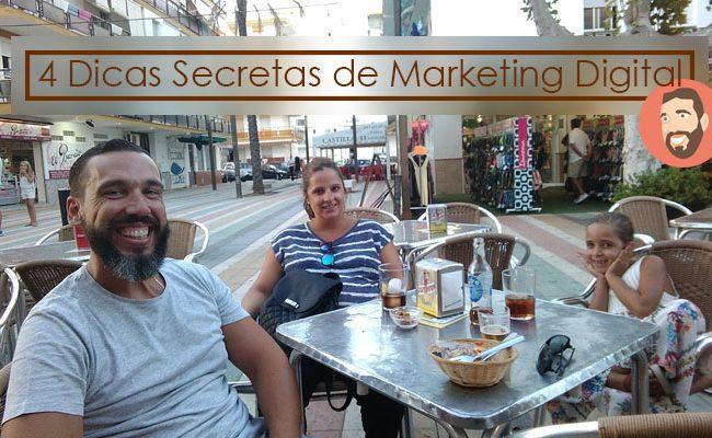 """4 Dicas """"Secretas"""" dentro do mercado digital [tem vídeo]"""